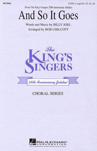 Joel And So It Goes (Arr Chilcott Bob) Kings Singers Satb Chor