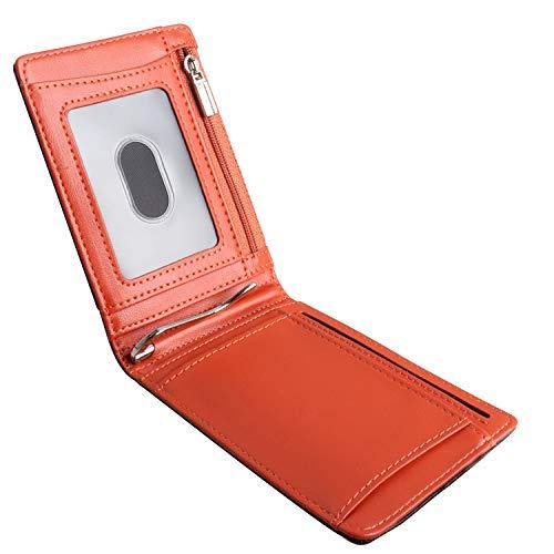 BIAL Geldbörse Herren mit Geldklammer RFID Schutz Geldbeutel mit Münztasche ID Sichtfenster Schlank Portemonnaie Herren Portmonaise Herren Slim Wallet Portemonnaie Kartenetui