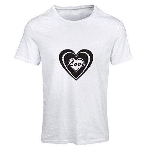 """T-shirt femme """"Je t'aime - cadeaux de jour de Valentines"""" grands cadeaux Blanc Noir"""