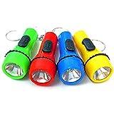 Hillfield® 12 x Schlüsselanhänger Taschenlampe Lampe 6 cm (Bunt 1 - Pack = 12 Stück)