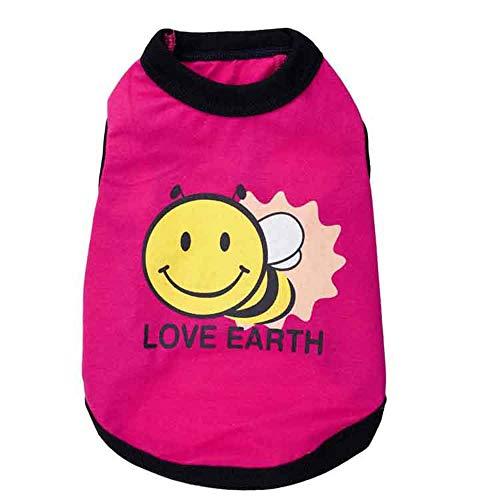 Kostüm Bee Little - LNLW Sweatshirt Hundekostüm Cute Little Bee Pet Weste T-Shirt Puppy Sweater (Farbe : Rosa, Size : S)