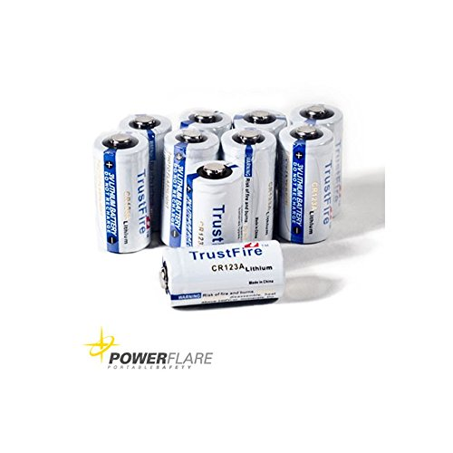 Preisvergleich Produktbild 10er Set CR123A Batterie Taschenlampe für Powerflare