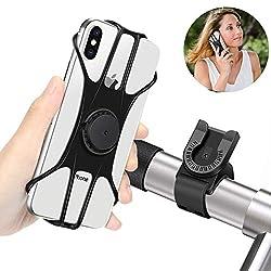 BAONUOR Handyhalterung Fahrrad, Abnehmbare handyhalter Fahrrad Face ID/Touch ID kompatibel, 360° drehbar, Universal Motorrad/Fahrrad Silikon Handy Halter, für 4-6 Zoll Smartphone