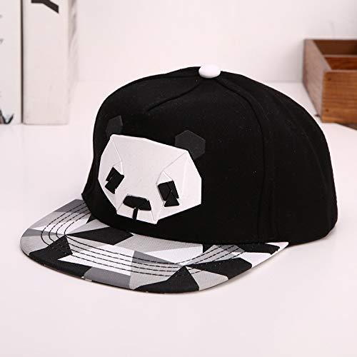 sdssup Männer und Frauen Mode Baseball Cap Panda Offset Hip Hop Hut Panda schwarz