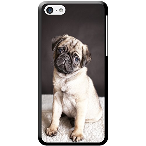 coque-rigide-pour-tlphone-portable-motif-carlin-plastique-pug-on-a-rug-apple-iphone-5c