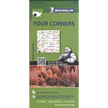 Michelin Four Corners Map (Michelin USA, Band 175)