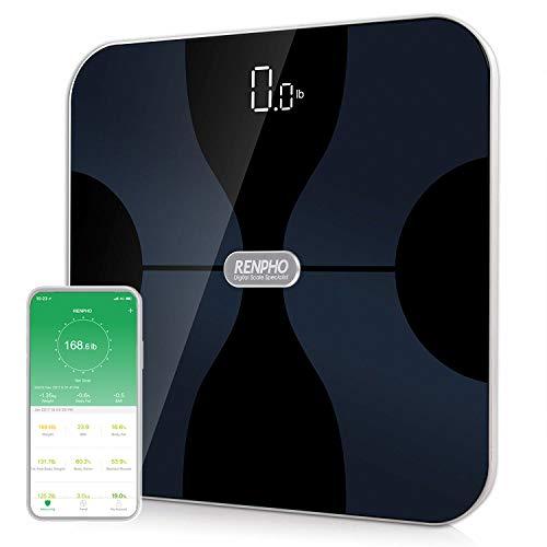 RENPHO Körperanalysewaagen Bluetooth mit App, Digital Smart Waage mit Körperfett, BMI, Muskelmasse, Knochenmasse, Wasser, Protein, ITO-Beschichtung