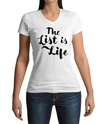schindlers-list-inspired-the-list-is-life-quote-graphic-womens-v-neck-t-shirt-m