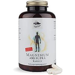 Magnesium 400 Supra 400 mg reines Magnesium hochdosiert 300 Kapseln (10 Monatsvorrat) OHNE Magnesiumstearat Deutsche Premium Qualität Kräuterhandel Sankt Anton