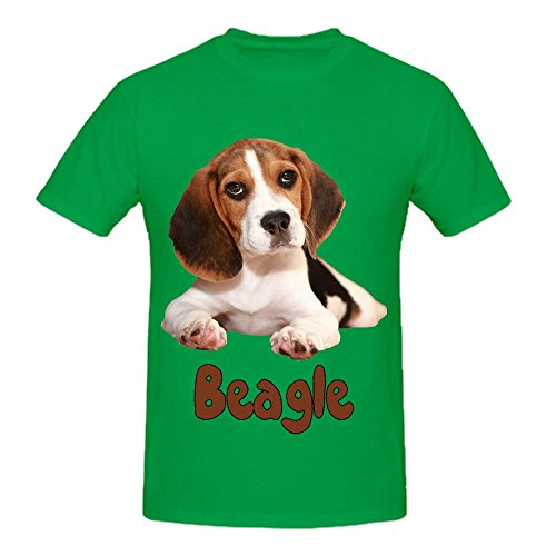 the-beagle-dog-mens-crew-neck-cool-t-shirt-green