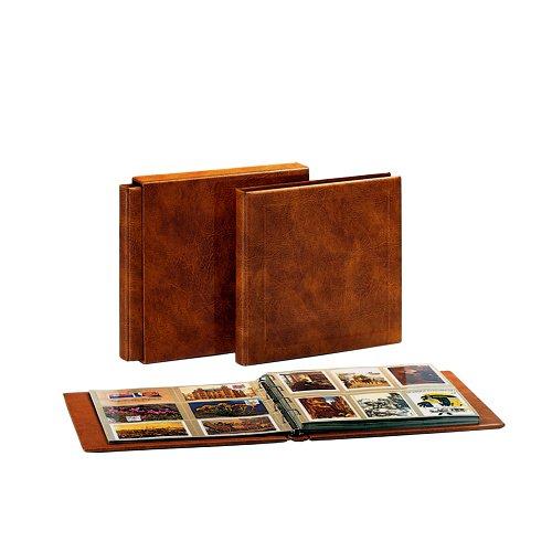 SAFE 1006 SCHUTZKASSETTE FÜR das SAFE 1001 / 1002 / 1005 / Maxialbum Postkartenalbum ledergenabt braun für Postkarten / Ansichtskarten - Platz für ca. 400 Postkarten / Ansichtskarten (Postkarten Ca)