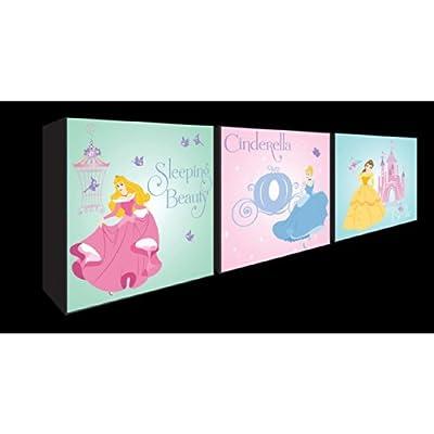 Disney Princess Set Of 3 Trio Box Art Canvas Wall Art - low-cost UK light shop.