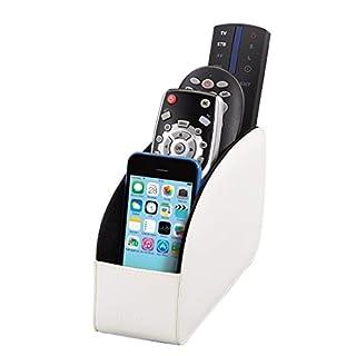 Hama Fernbedienungshalter Major (für bis zu 4 Fernbedienungen, auch als Organizer für Brillen, Smartphones, Controller, USB Sticks, Fernbedienung-Halterung) weiß
