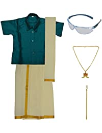 Preethi Dresses Boys' Art Silk Dhoti Set