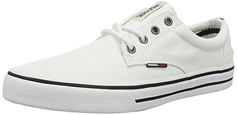Tommy Hilfiger Herren V2385IC 1D Low-Top, Weiß (White 100), 45