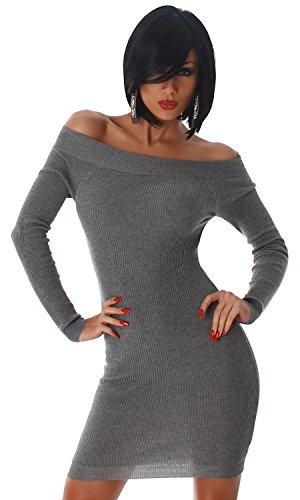 Jela London - Tailleur-robe - Crayon - Uni - Femme Taille Unique Gris