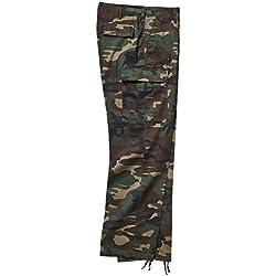Brandit - Pantalon Camouflé Combat Cargo US Ranger - Woodland - 7XL