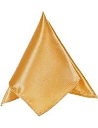 Rose Gold Mens Pocket Square Plain Coloured Satin Hanky/Handkerchief *UK Seller*
