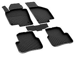 Auto Gummi Fußmatten Gummimatten Komplet Set Passend für VW Passat (B7) Baujahr 2010-2014