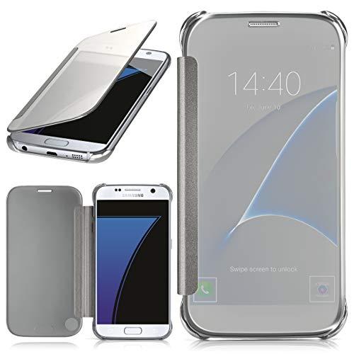 moex Samsung Galaxy S7 | Hülle Transparent TPU Void Cover Dünne Schutzhülle Silber Handyhülle...
