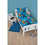 Unbekannt 4-in-1-Bettwäsche-Set, für Kinderbett, Einzelbett, Bettdecke und Kissen, für Jungen und Mädchen, Paw Patrol Spy 4.0 Tog, Junior/Toddler/Cot Bed