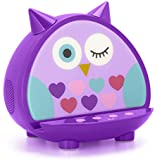 KitSound My Doodles Universal Child Friendly Character Dock with Wireless Bluetooth Speaker and 3.5 mm Jack for Smartphones/iPod/iPad/Bluetooth Enabled Devices - Purple Owl