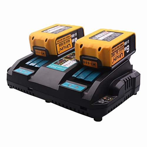 2 Units 18 V 4 Ah BL1840 Batería con 4 A Dual Puerto de cargador rápido de repuesto para Makita DUH551Z...