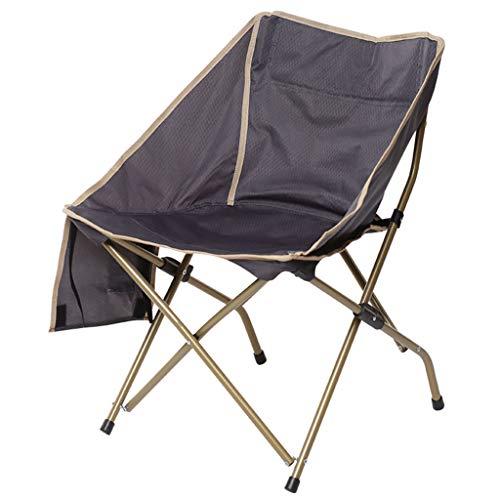 Sedia da esterno pieghevole schienale sedia da spiaggia sedia da salotto sedia da disegno all'aperto piccola panca mazar sedia da pesca portatile sedia pieghevole da pesca (colore : gray)