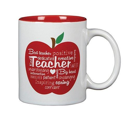 Wort Art Keramik Lehrer Kaffee Tasse mit Tafel Nachricht, 11Oz - Board Keramik-message