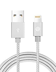 Apple Ladekabel Opso[apple Mfi Zertifiziert] Nylon Geflochten Lightning Usb Kabel 1m Für Iphone 7 6s 6 Plus Se 5s, Ipad Pro, Ipad Mini, Ipod Touch Nano - Silber
