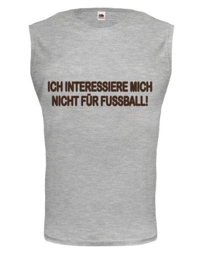 buXsbaum® Tank Top Ich interessiere mich nicht für Fussball Heathergrey-Brown
