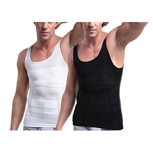 Mens Slimming Body Shaper Vest Shirt, Compression Muscle Tank