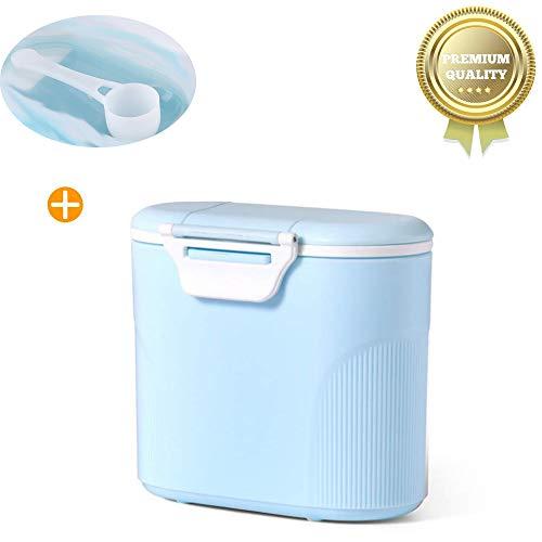 Sunshine smile milchpulver aufbewahrung,Milchpulver-Spender,Tragbarer Baby Milchpulver Behälter,milchpulver container mit Gleichmacher 600ML/280ML (Blau (large)) -
