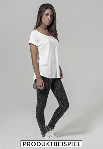 Ladies fashion leichter Oversize Shirt Tanktop too cool for school - Schwarz & Weiß - Hinterer Schnitt Länger mit Motiv - Neu Weiß