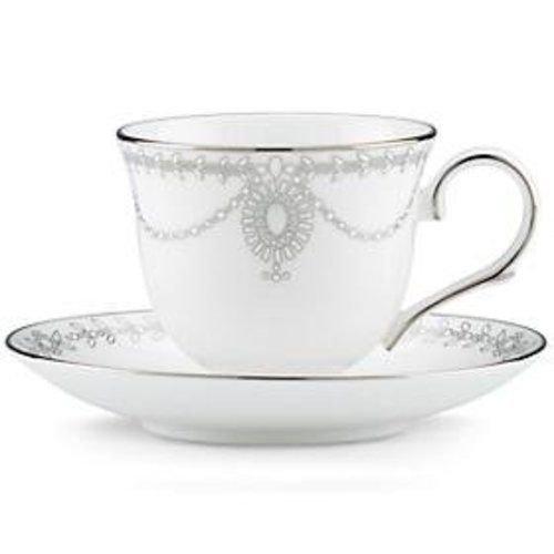 Lenox Empire Pearl DW Tee Tasse und Untertasse Set Lenox Set Ring