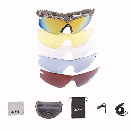 ZllSports Polarisierte Sonnenbrillen, Polarisierte Angelbrillen-Set Hd Erhöht Klares Nachtangeln Mit Blu-ray-Sonnenbrillen, Um Ihre Augen In Verschiedenen Umgebungen Zu Schützen,Camouflage,2