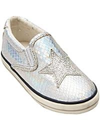 weberfashion - Pantofole Bambina , Nero (Nero / grigio), 18.5