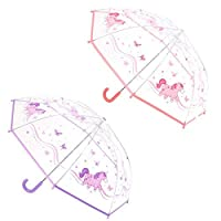 Bubble 1 x Unicorn Dome Umbrella - Approx 55 cm - Smile and keep the rain away!