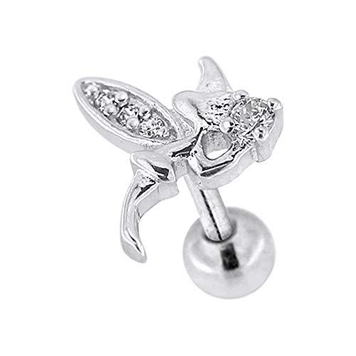 Angel 16 Gauge Chirurgenstahl Knorpel Helix Tragus Ohr Piercing Schmuck ()