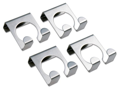 Chg 9892-00 gancio per porta, 4 pezzi in acciaio inossidabile