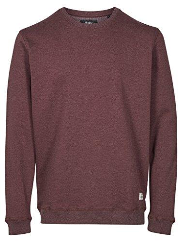Solid Herren Sweatshirt Sweat-Garon, Violett (Fudge 5560M Fudge), Medium (Solid Pullover Crewneck)