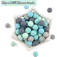 lets make Cuentas de Silicona para Bebé Collares de Dentición Perla Suelta para Mordedores Sensoriales 15mm