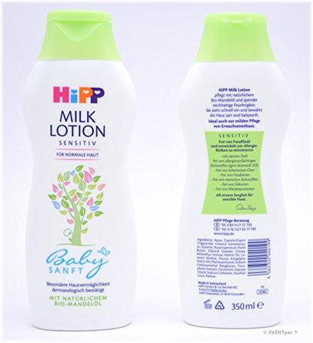 3x Hipp Babysanft Milk Lotion 350 ml sensitiv für normale Haut Milklotion