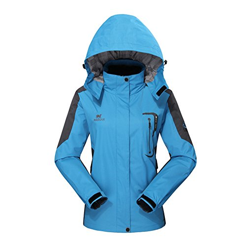 Diamond Candy Giacca a Vento softshell per Donna con cappuccio da Trekking Montagna Pouring Adventure e Outdoor Sports,Blu L