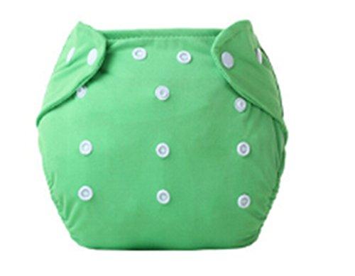 Madlst Babytuchwindeln Einstellbar waschbare und wiederverwendbare Taschenwindeln,Grün