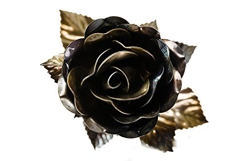 Absolutely Amazing XL 100% Hand Crafted, Forged Iron ROSE !!! Anniversary wrought iron stunning piece of art – perfect as a gift for any occasion!!!