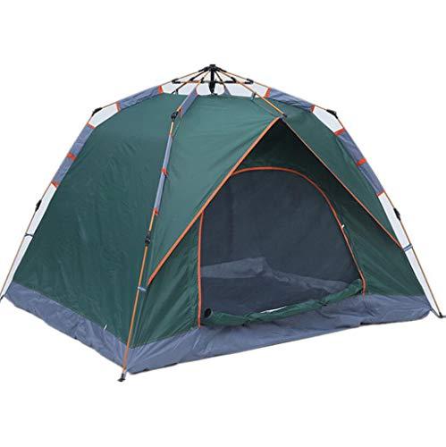 JBHURF Automatisches hydraulisches Zelt im Freien 3-4 Personen-Familien-kampierende freie Fahrt-Geschwindigkeits-Zelt (Farbe : Green)