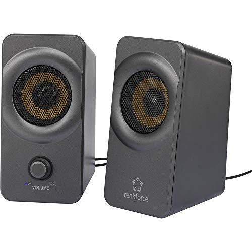 Renkforce RF-PCL-MESH2.0 2.0 PC-Lautsprecher Kabelgebunden 5 W Schwarz-Grau