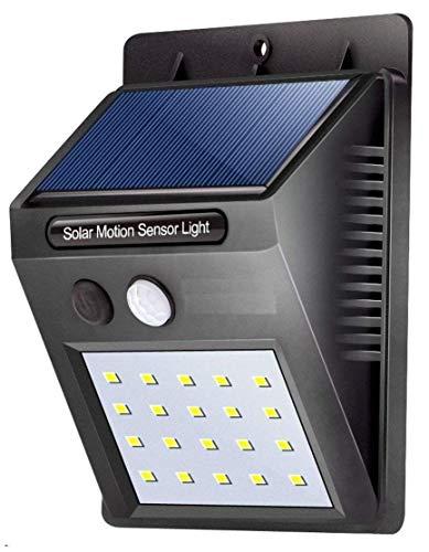 ADTALA 20 LED Waterproof Wireless Motion Sensor Security Lights for Garden (Black)
