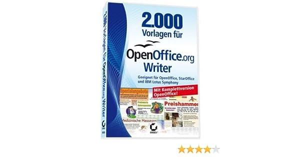 2 000 Vorlagen Für Openoffice Writer